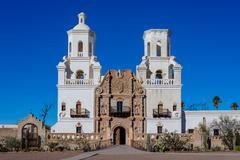 Mission San Javier del Bac, Tucson, USA - stock photo
