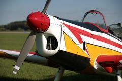 Colours small plane - stock photo