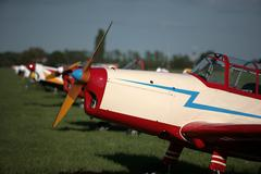 Planes on air show - stock photo