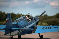 Blue plane behind - stock photo