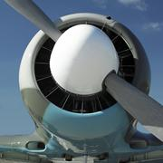 Detail of plane - stock photo