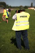 Press man - stock photo