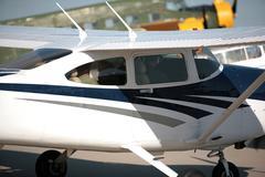 Stock Photo of Plane on exhibition