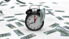 Stock Video Footage of Time to earn money