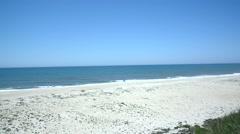 Nazare beach, Portugal Stock Footage