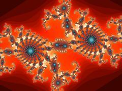 Decorative fractal pattern with spirals Stock Illustration