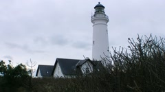 Hirtshals lighthouse Stock Footage
