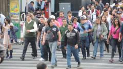 Crowd walking - stock footage