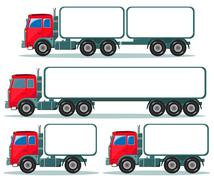 Heavy truck with space for text - stock illustration