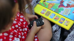 Girl playing with the car keys Stock Footage