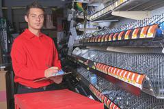 Hardware store employee - stock photo