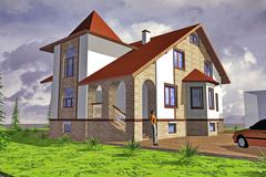 Major Cottage Stock Illustration