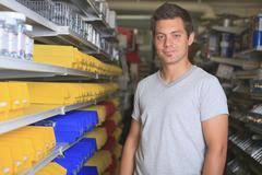 A hardware store client on the market - stock photo