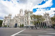 Stock Photo of City Hall of Madrid, cultural center and monument of the city in Madrid