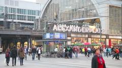 Alexanderplatz subway station in Berlin Stock Footage