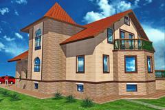 Major Cottage - stock illustration