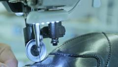 Stock Video Footage of Manufacturing process in shoe factory