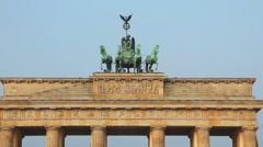 Brandenburg gate close up in Berlin, Germany Stock Footage