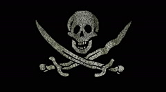 Pirate Flag Flags Stock Footage