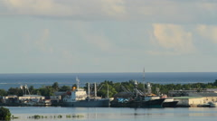 Harbor on the Micronesian island of Pohnpei Stock Footage