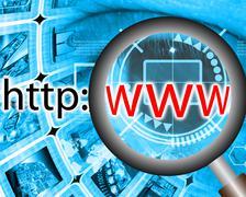Internet address Stock Illustration