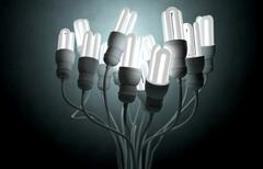 Flourescent Twisted Lights Stock Illustration