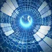 Cable internet inside Stock Illustration