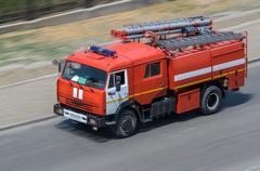 Fire car Stock Photos