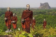 Statues of Buddhist Monks in Mawlamyine, Myanmar Kuvituskuvat