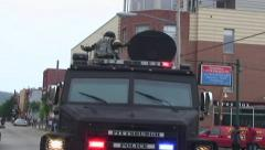HD TERRIFYING WEAPON - LRAD ON LENCO BEARCAT Stock Footage