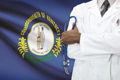 Concept of national healthcare system - Kentucky - stock photo