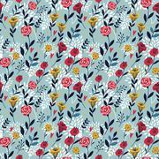 Elegant cartoon seamless pattern Stock Illustration