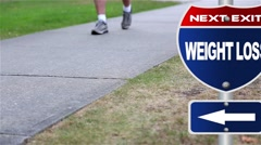 Weight loss road sign Stock Footage