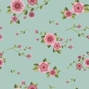 Stock Illustration of graceful seamless floral pattern
