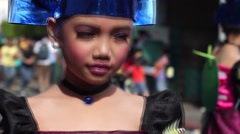 Blue headband Carnival Dancer - stock footage