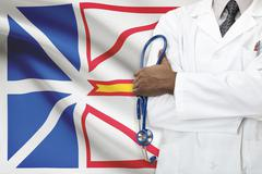 Concept of Canadian healthcare system - Newfoundland and Labrador - stock photo