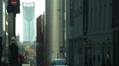 Walking to Work, London, City - stock footage