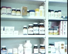 MEDICATIONS & ANTIBIOTICS PHARMACY SHOTS Stock Footage