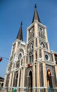 Cathedral of Mary Immaculate Conception, Chanthaburi. - stock photo
