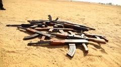 Guns with Land Mafia - stock footage