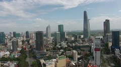 Aerial Ho Chi Minh City Vietnam Skyline 1 - stock footage