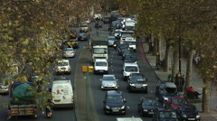 High angle shot, London traffic - stock footage