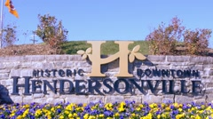 Hendersonville, North Carolina City Sign Stock Footage