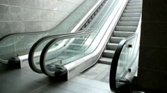 Modern escalators Stock Footage