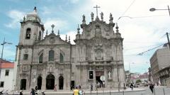 Igreja dos Carmelitas and Igreja do Carm in Porto, Portugal Stock Footage