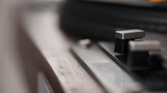 Tracking shot of turntable operation Stock Footage