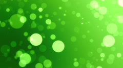 Bokeh Particles Fly, green - stock footage