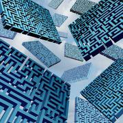 Maze Confusion Concept - stock illustration