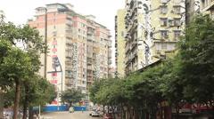 Huangjueping Graffiti Street Chongqing Stock Footage