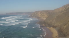 Aerial from Vale Figueiras at the westcoast in Portugal - stock footage